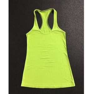 Lululemon cool racerback neon yellow/green size 6